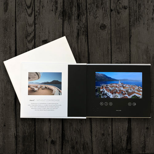 7inch video brochures & boxes